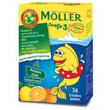 Moller's Ω3 Λιπαρά Οξέα (Ζελεδάκια - Ψαράκια)
