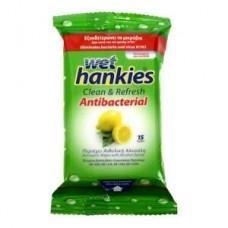 Wet Hankies Lemon Αντιβακτηριδιακά Μαντηλάκια